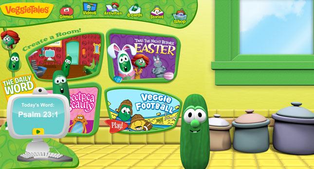 Veggietales brand launch new kid friendly website for Website to design a room
